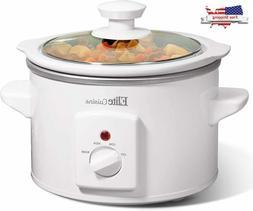1.5 Ceramic Slow Cooker Crock Pot Glass Lid Kitchen Applianc