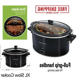 10 Quart Large Crock Pot Slow Cooker Stoneware Kitchen Appli