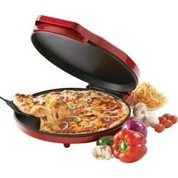 12'' NONSTICK Electric Pizza Maker MULTIFUNCTIONAL Counter T