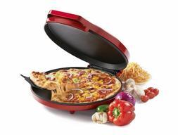 "Betty Crocker 12"" Pizza Maker - Red BC-2958CR Nonstick Easy"