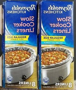 16 Reynolds Slow Cooker Liners Crock Pot Bags~Fit 3-8 Quarts