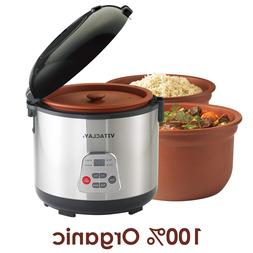 VITACLAY 2-IN-1 ORGANIC RICE N' SLOW COOKER WITH CLAY CROCK