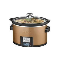 CUISINART 3.5 qt Copper Slow Cooker Programmable Timer Crock