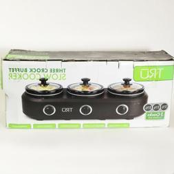 3-crock Buffet Slow Cooker