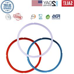 3 Pack Silicone Sealing Ring for Instant Pot 5/6 Qt Replacem
