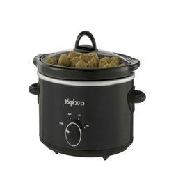 4 Quart Crock-Pot Manual Slow Cooker, Black, Dishwasher-Safe