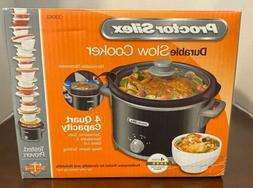 4 quart slow cooker crock pot new