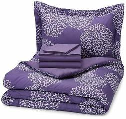 AmazonBasics 5-Piece Bed-In-A-Bag Comforter Bedding Set - Tw