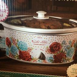 Pioneer Woman 5 Quart Blossom Jubilee Slow Cooker Crockpot;