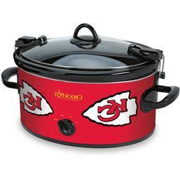 6 Quart NFL Kansas City Crock-Pot Chiefs Slow Cooker Lid-Mou