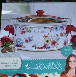 Pioneer Woman 6 Quart Portable Slow Cooker Melody