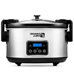 Magic Mill 8.5 Quart Programmable Slow Cooker, 3 Cooking Set