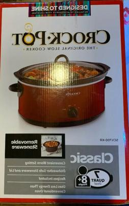 Crock-Pot 7-qt. Slow Cooker-RED