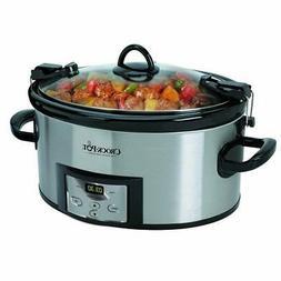 Crock-Pot SCCPVL610T-S-A 6 Quart Cook Carry Oval Slow Cooker