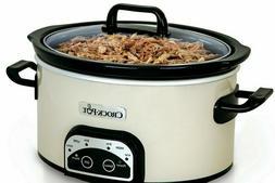 Crock-Pot Smart-Pot 4-Quart Digital Slow Cooker, White, SCCP