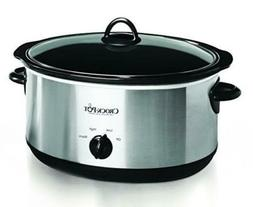 Crock-pot Oval Manual Slow Cooker, 8 quart, Stainless Steel