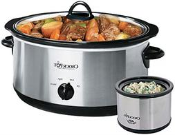 Crockpot SCV803-SS 8 quart Manual Slow Cooker with 16 oz Lit
