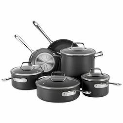 New All-Clad B1 10 Piece Pots and Pans Set Hard Anodized Non
