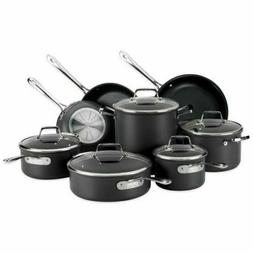 New All-Clad B1 13 Piece Pots and Pans Set Hard Anodized Non