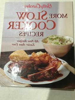 Betty Crocker More Slow Cooker Recipes HC Spiral Cookbook Cr