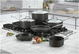 Cuisinart Chef's Classic Nonstick Hard Anodized 10-Piece Sta