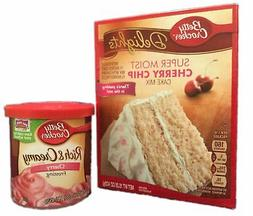Betty Crocker Cherry Chip Cake Mix and Cherry Frosting Bundl