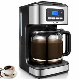 AICOK Coffee Maker, 12 Cups Programmable Drip Coffee Maker w