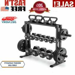Marcy Combo Weights Storage Rack for Dumbbells Kettlebells A