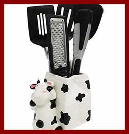Cow Utensil Holder Kitchen Multipurpose Farmhouse Decor Croc