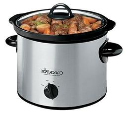 Crock-Pot 3-Quart Ceramic Stainless Steel Manual Slow Food M