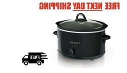Crock-Pot 4 Quart Manual Slow Cooker, Black, Dishwasher Safe