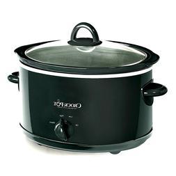 Crock-Pot 4 Quart Manual Slow Cooker, Black, Dishwasher-Safe