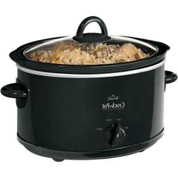 Crock-Pot 4 Quart Manual Slow Cooker, Black