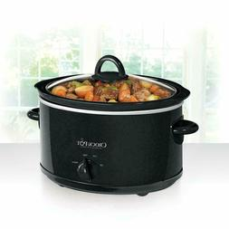 Crock-Pot 4 Quart Slow Cooker Oval Black Manual