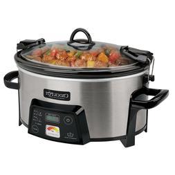 SCCPVL610-S-A 6-Quart Cook & Carry Programmable Slow Cooker