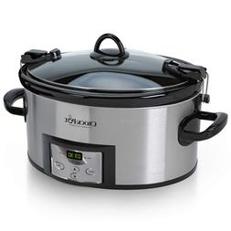 Crock-Pot 6-Quart Programmable Cook Carry Slow Cooker with D