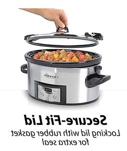 Crock-Pot 6-Quart Slow Cooker Cook & Carry Programmable Stee