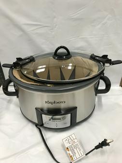 Crock-Pot 7-Quart Easy Clean Non-Stick Ceramic Slow Cooker w