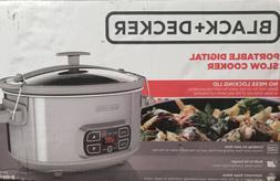 Crock Pot  Black and Decker 7 Quart Programmable Slow Cooker