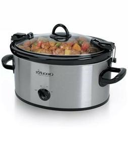 Crock-Pot 6 Quart Cook' N Carry Oval Manual Portable Slow