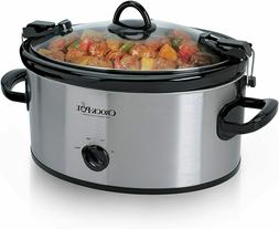 Crock-Pot Cook' N Carry 6-Quart Oval Manual Portable Slow Co