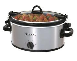 Crock-Pot Electric Slow Cooker, Cook&Carry Oval Stainless, S