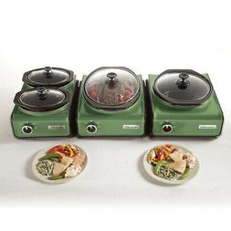 Crock-Pot Hook Up Connectable Entertaining System Green
