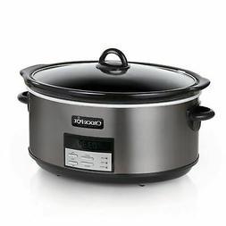 Crock-Pot Programmable Slow Cooker - Black Stainless