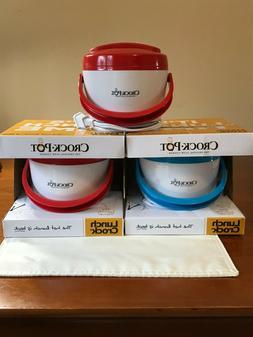 Three Crock-Pot SCCPLC201-G Portable Lunch Crock Slow Cooker
