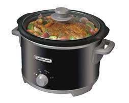 Crock-Pot Slow Cooker 4-Quart Proctor-Silex Manual Black Rou
