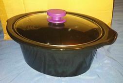 crock pot slow cooker 5 qt oval