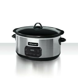 Crock Pot Slow Cooker 8 Quart Digital Timer Programmable Ova