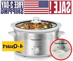 Crock Pot Stainless Steel 8.5 Quart LARGE Oval Manual Slow C