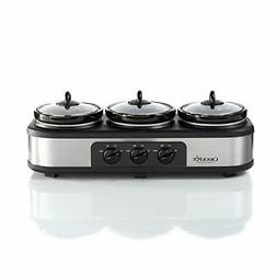 Crock-Pot Stainless Steel Trio Cook & Serve Slow Cooker & Fo